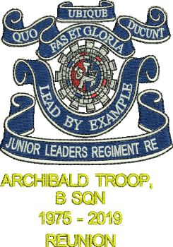 JNR LEADERS / ARCHIBALD TROOP REUNION EMBROIDERED POLO SHIRT